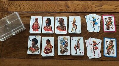 Vintage 1980s Non Standard Playing Cards - Double Deck - African Warriors