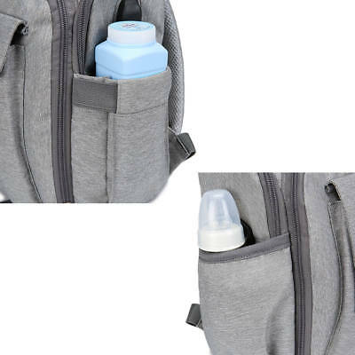 Large Waterproof Mummy Nappy Diaper Bag Baby Travel Changing Nursing Backpack AU
