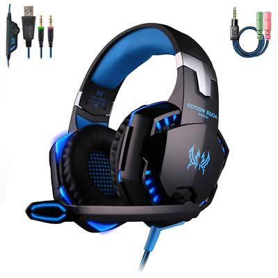 3,5 mm Gaming Headset MIC LED Kopfhörer G2000 für Laptop PS4 Xbox One 360E