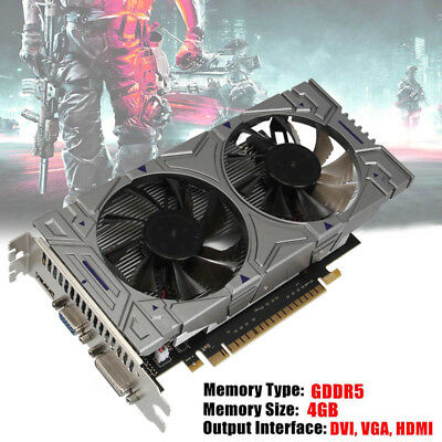 GTX1050TI GDDR5 4GB 128Bit 3000MHz HD Gaming Video Graphics Card for NVIDIA