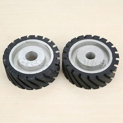 Abrasive Belt Rubber Wheel Aluminum Core Machine Grinding Chamfering Polishing
