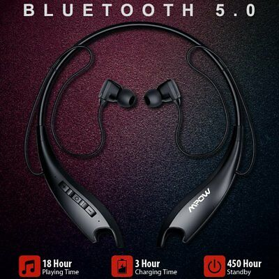 Mpow Bluetooth 5.0 Headphones Wireless Neckband Headset ( Vibrate Alert )