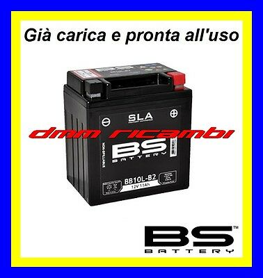 Batteria BS SLA Gel BB10L-B2 BB10LB2 equivalente modifica YUASA YB10L-B pronta