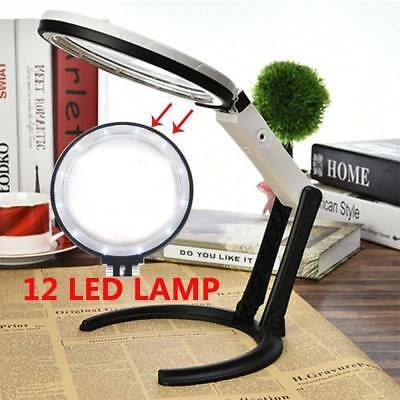 10 LED 5X Magnifier Desk Light Precision Read Nail Tattoo Magnifying Lamp LOT