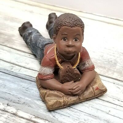 Sarah's Attic Figurine - Willie - Boy Laying On Pillow - # 775 Limited Edition