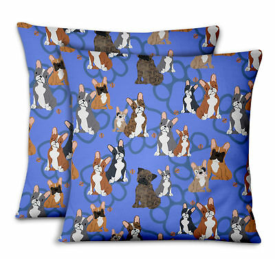 S4Sassy Dogs & Paw Home Decor Printed Fabric Cushion Cover 2Pcs-DG-500C