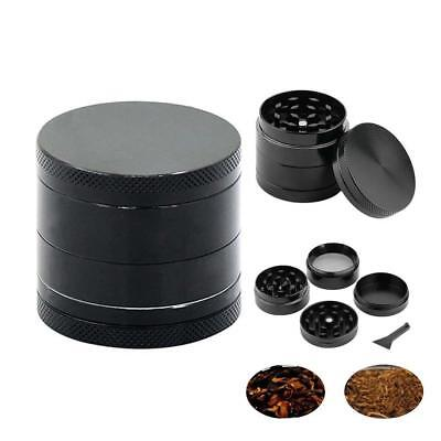 40MM 4-Layers Herb Grinder Spice Tobacco/Weed Smoke Metal Crusher Leaf Design AU