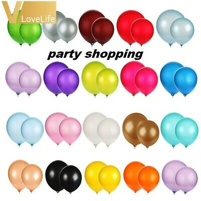 pearlised Latex Balloons - Range of 15 COLOURS in 12inch  (Party Decorations)