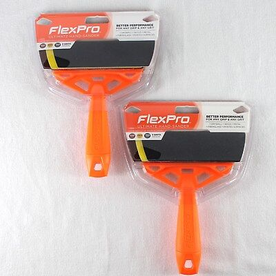 Flex Pro Ultimate Hand Sander Tool Lot of 2 Handles with 3 Sheets Sandpaper New