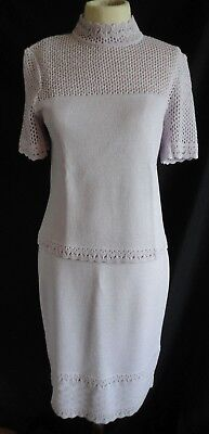 Vintage St John Collection By Marie Gray Lavender Top & Skirt Top P Skirt 4 Knit
