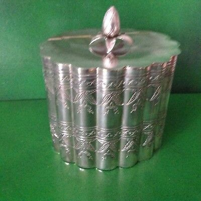 Antique Victorian Silver Plated Tea Caddy