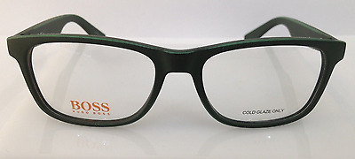 9f81934f39db7e Hugo Boss Orange BO 0217 Matte Green 9GF Plastic Eyeglasses Frame 52-17-140