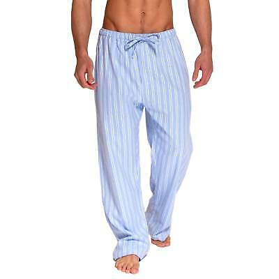 British Boxers Men's Westwood Blue Stripe Two-Fold Flannel Pyjama Trousers