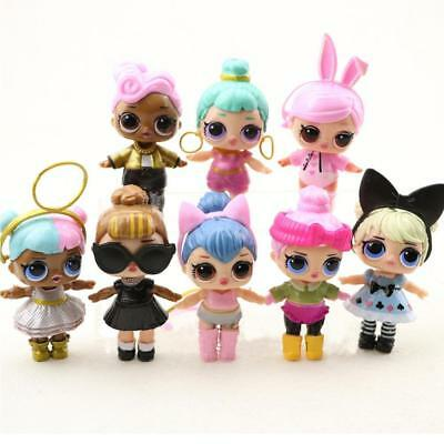 8X Mini LOL Dress Toys Dolls Girls Figure Collectible Surprise Ornament Toy Gift