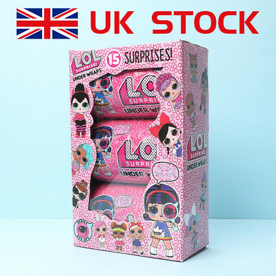Lol Outrageous Set of 3 Layer Surprise Ball Series Doll Mystery Kids Xmas Toy