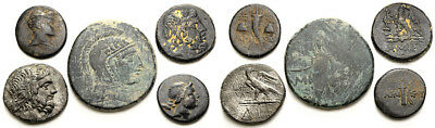 FORVM Lot of 5 Greek Coins 120-60 BC (4) Amisos Pontos (1) Dia Bithynia
