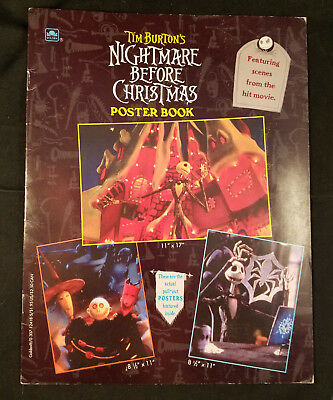Tim Burton - THE NIGHTMARE BEFORE CHRISTMAS Collector's Poster Book, Good Cond!!