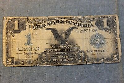 LOT 18 1899 UNITED STATES 1 DOLLAR BILL Silver Certificate LARGE NOTE NR