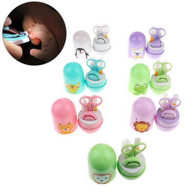 baby nail care set infant finger scissors nail clippers animal storage box FO