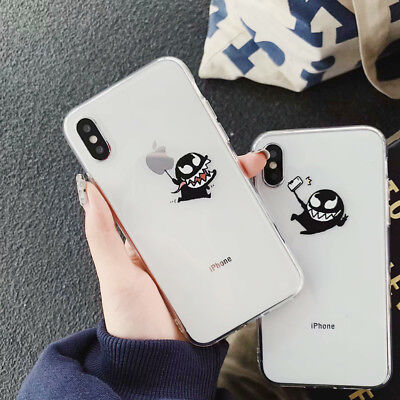 TPU Silicone Funny Cartoon Phone Case Cover For iPhone X XS Max XR 6 7 8 Plus