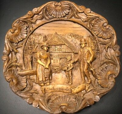 Vintage Plate plaques carved plates Large collector's lot Germany Europe cities