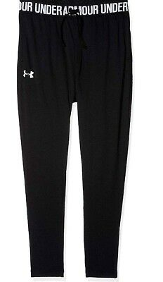New Girls Under Armour Tech  Joggers Black Size M