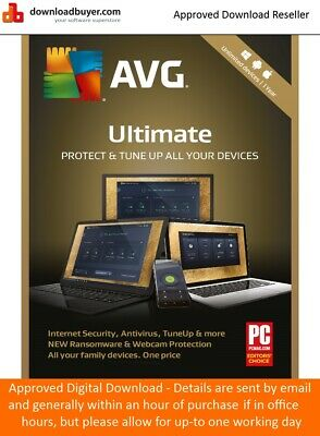 AVG Ultimate 2019 1 Year/Unlimited Devices (Approved Digital Download)