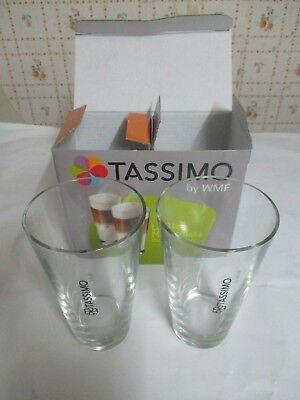 Lot de 2 Tasses Neuves Tassimo by WMF Latte Macchiato 30cl en verre