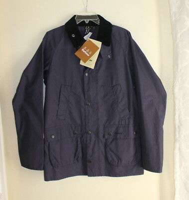 NWT Barbour Bedale Washed Cotton Jacket Outwear Sz S Navy All-season $275+