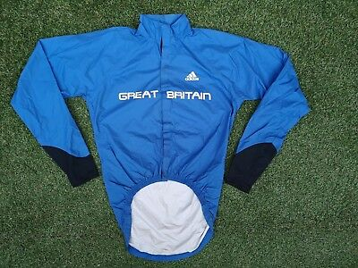 Great Britain Cycling Team Issue Adidas Lightweight Waterproof Jacket ~ Small