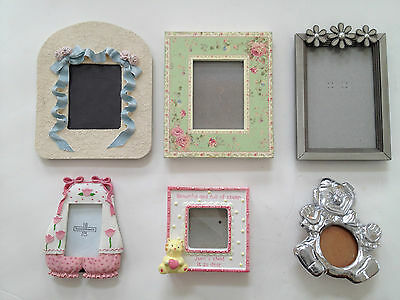 Frames Nursery Baby Picture Frames 6 Pink Girl Baby Toddler Room Decor Photos