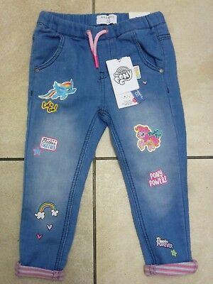 Reserved Girls My Little Pony Jeans Style Jogger Jog Pants 2-3 Years BNWT Blue