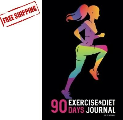 90 days exercise diet journal daily food and weight loss diary