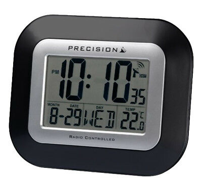 Precision LCD Wall Mountable Clock,  Radio Controlled So Never Manually Set Tome