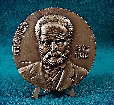 Bronze Medal French Poet / Victor Hugo ( Writer 1802-1885) by Jorge Coelho