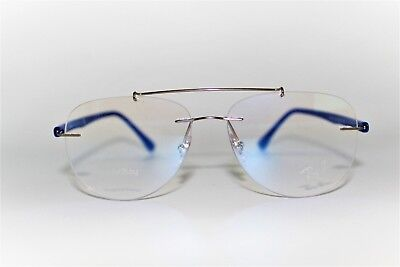 f24b4f012b8 New Authentic Ray-Ban Rb 8749 1193 Blue Silver Frames Eyeglasses 54Mm  Rb8749 Rx