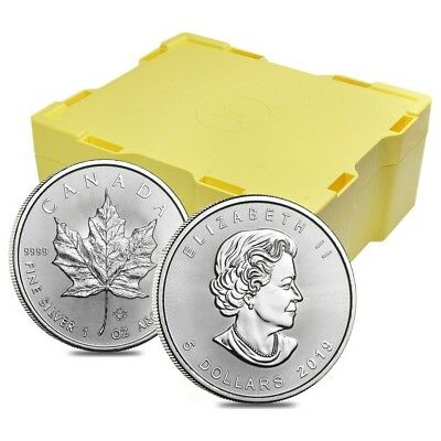 Monster Box of 500 - 2019 1 oz Canadian Silver Maple Leaf .9999 Fine $5 Coin BU