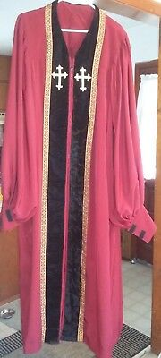 Bishop Clergy Adult Minister Red Pastor Priest Church Religious Mens Robe