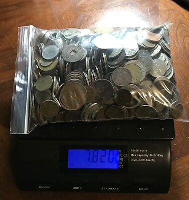 Lot Of 7.8 Lbs CULL Foreign World Coins Few Tokens -Large Lot From 1800s-current