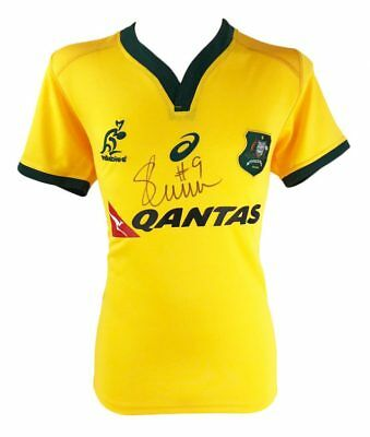 Signed Will Genia Jersey, Australia Wallabiies Rugby Shirt + *photo Proof*