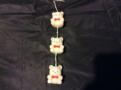 Vintage Avon - Three Wee Teddy Candles - NIB - string of 3 teddy bear candles