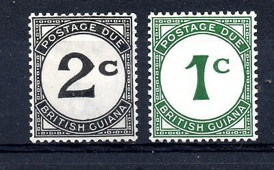 British Guiana (1905) 1940 2 x Postage dues Lightly mounted As D1-2