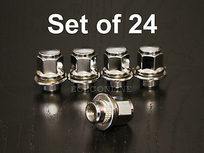"""20Pcs//Set 1.5/"""" Lug Nuts 12X1.5mm For Toyota 1989-2016 Corolla MAG Style Silver"""