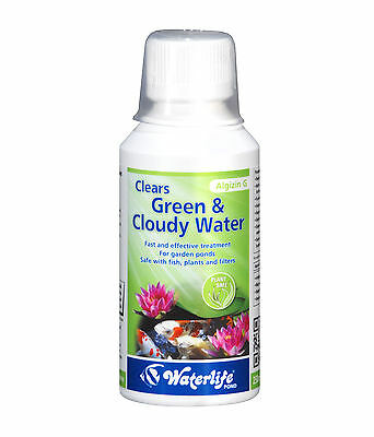 Waterlife Algizin G Pond Clears Green & Cloudy Pond Water 500ml Bottle
