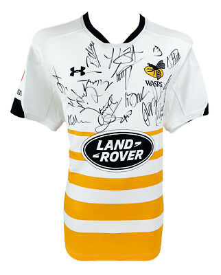 Wasps Signed Rugby Shirt - Fully Autographed Jersey 2018 + *certificate*