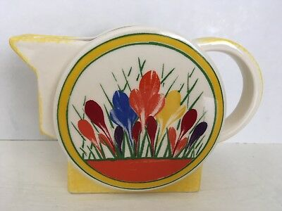 Moorland Pottery Art Deco Clarice Cliff Jug, crocus design