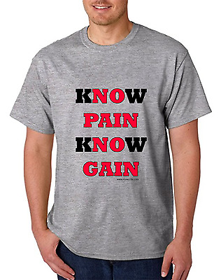 Bayside Made USA T-shirt Know Pain Know Gain No Pain No Gain workout