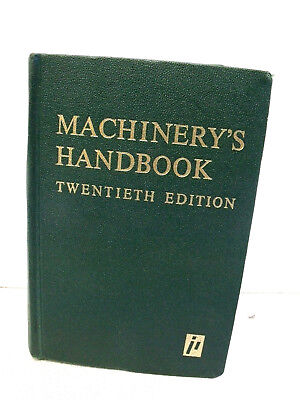 Machinery's Handbook Twentieth Edition