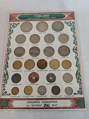 Old Thai Commemorate Coins  1942-1979