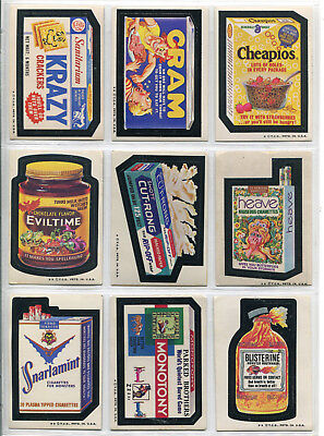 Topps Wacky Packages 72 Card Lot Stickers Trading Cards Ungraded 1970's Tan Back